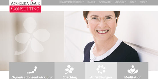 Angelika Baur Consulting Website Relaunch 2015